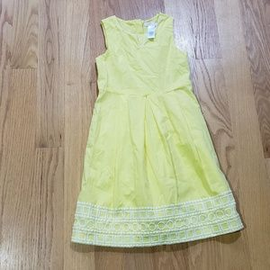 Janie and Jack Size 6 bright yellow cotton…